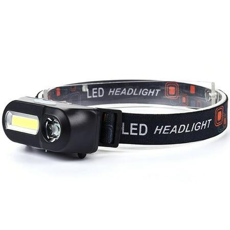 Outdoor Camping Portable Mini USB Charging COB LED Headlight Fishing Headlights - image 4 of 10