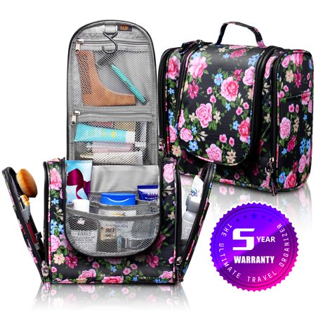 98c1d37f8254 Hanging Toiletry Bag, ELV Large Travel Toiletry Bag Kit Organizer Washable  Portable Waterproof Cosmetic Makeup Bag for Bathroom Shower, Gym, Camping  ...