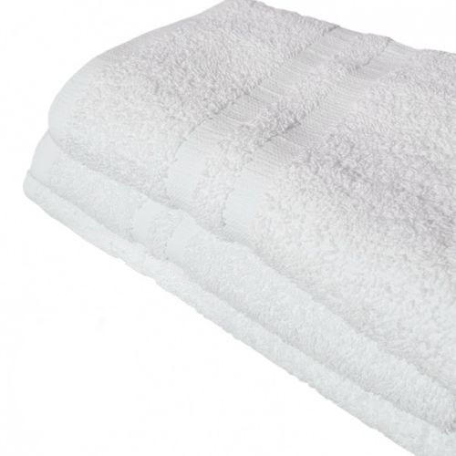 "GHP 3-Pcs Solid White 24""x50"" 100% Ringspun Cotton Quick Drying Hand Bath Towels"