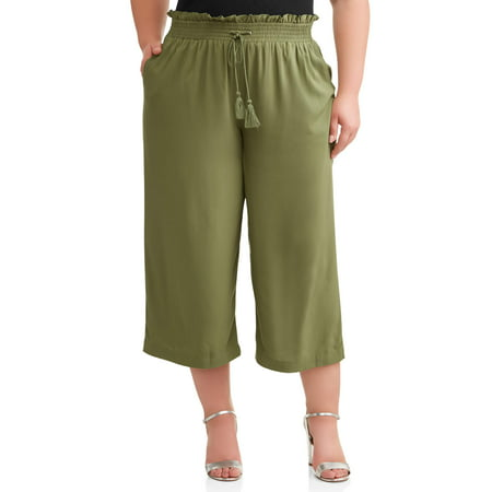 Wear Cropped Pants (Women's Plus Wide Leg Cropped Pant )
