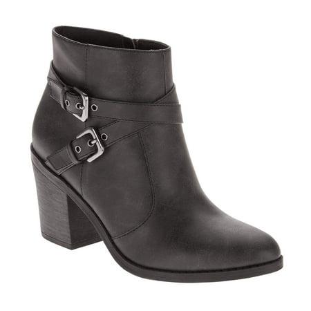 Image of Faded Glory Women's Two-Buckle Heel Boot