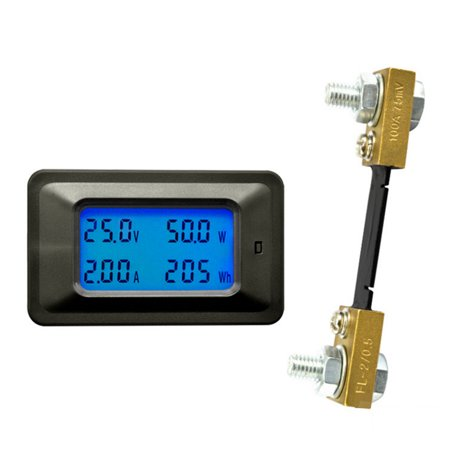 Multi-functional 100V 100A LCD Backlight Display Digital Meter Voltage/Current/Power/Energy Tester Monitor Multi-meter Ammeter Voltmeter with External