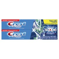 Crest Complete Extra White Plus Scope Dual-Blast Fresh Breath Fresh Mint Blast Flavor Toothpaste 5.8 oz, Pack of 2