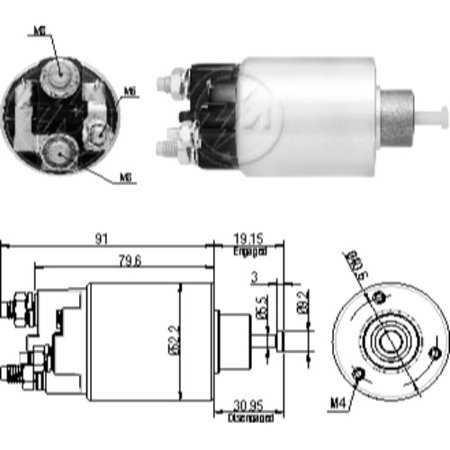 New Starter Solenoid Relay for CORSA C/ DELCO REMY on