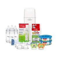 Playtex Baby Gift Set with Diaper Genie Complete Refills and Nurser Bottles