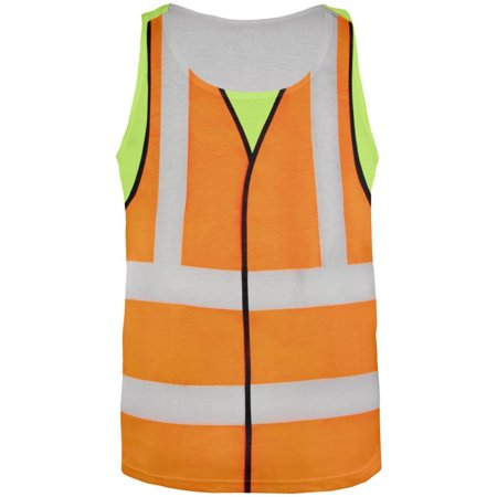 Halloween Road Worker Costume All Over Adult Tank Top - Lincoln Road Halloween Time