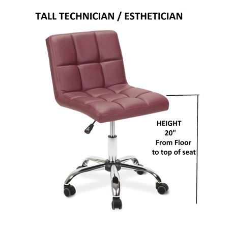Esthetician Technician Stool Toto Burgundy Chair For Spa Salon Medical Office