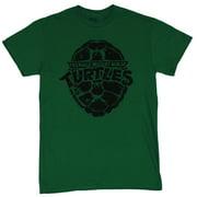 Teenage Mutant Ninja Turtles Mens T-Shirt - Black Stamped Shell Logo Image