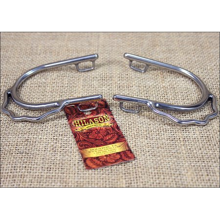 HILASON STAINLESS STEEL LADIES BUMPER SPURS WITH SPUR STRAP (Saddlery Spur Straps)