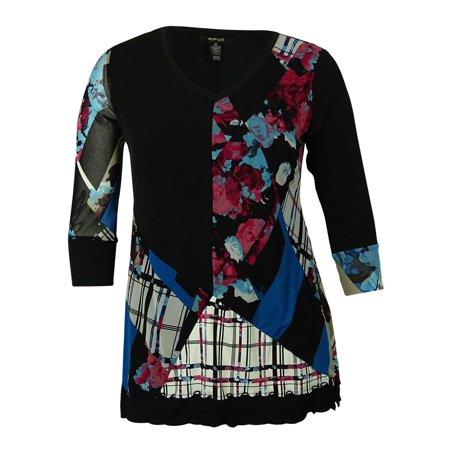 Style & Co Women's Printed Handkercheif-Hemmed Tunic Blouse