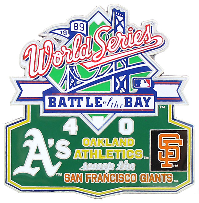 1989 World Series Commemorative Pin - A's vs. Giants