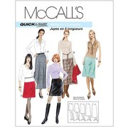 McCall's Pattern Misses' A-Line Skirts in 5 Lengths, DD (12, 14, 16, 18)