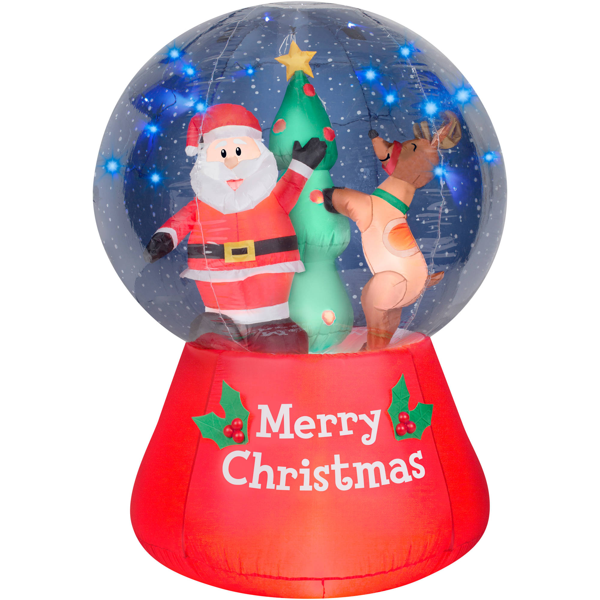 5.5' Airblown Inflatable Snow Globe Scene with Glimmer LED ...