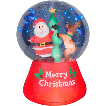 5 5 39 airblown inflatable snow globe scene with glimmer led for Outdoor christmas globes