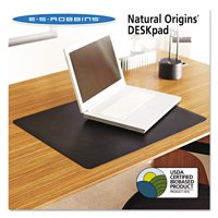 ES Robbins Natural Origins Desk Pad, 19 x 12, Matte, Black -ESR120792