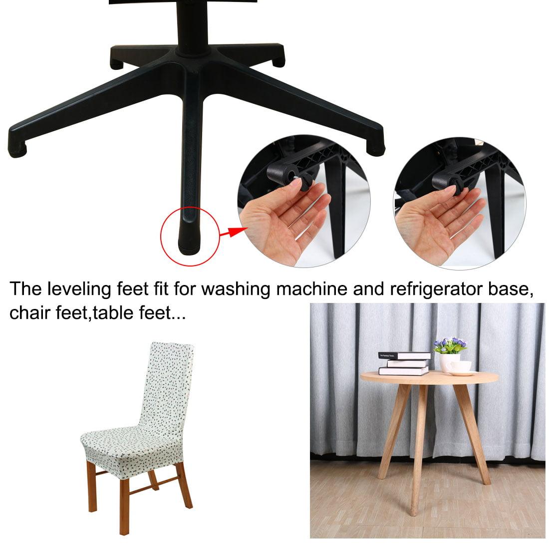 Unique Bargains Home office Table Desk Glide Leveling Foot M6x15mm Thread Black 8pcs - image 2 of 7