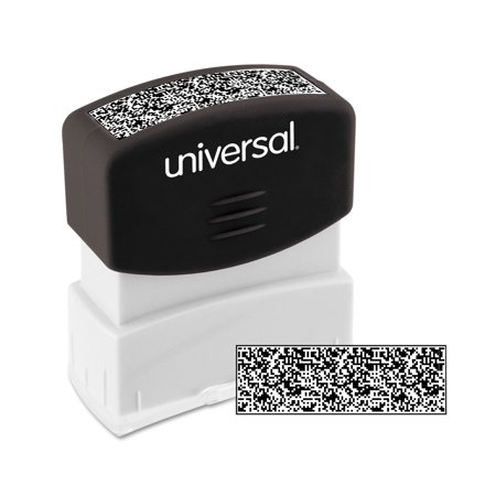 Universal Security Stamp, Obscures Area 9/16 x 1 11/16, Black