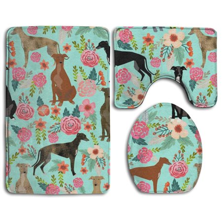 Gohao Greyhound Floral Cute Dog Mint Vintage 3 Piece