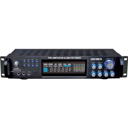 Pyle P3001AT 3000w Hybrid Pre Perp Amp W Am Fm Tuner