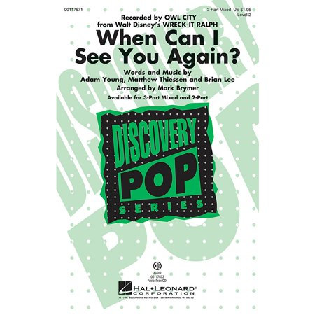 Hal Leonard When Can I See You Again? VoiceTrax CD by Owl City Arranged by Mark Brymer (Owl City When Can I See You Again)