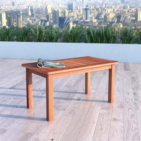 Atlin Designs Hardwood Patio Coffee Table in Cinnamon Brown - image 2 de 3