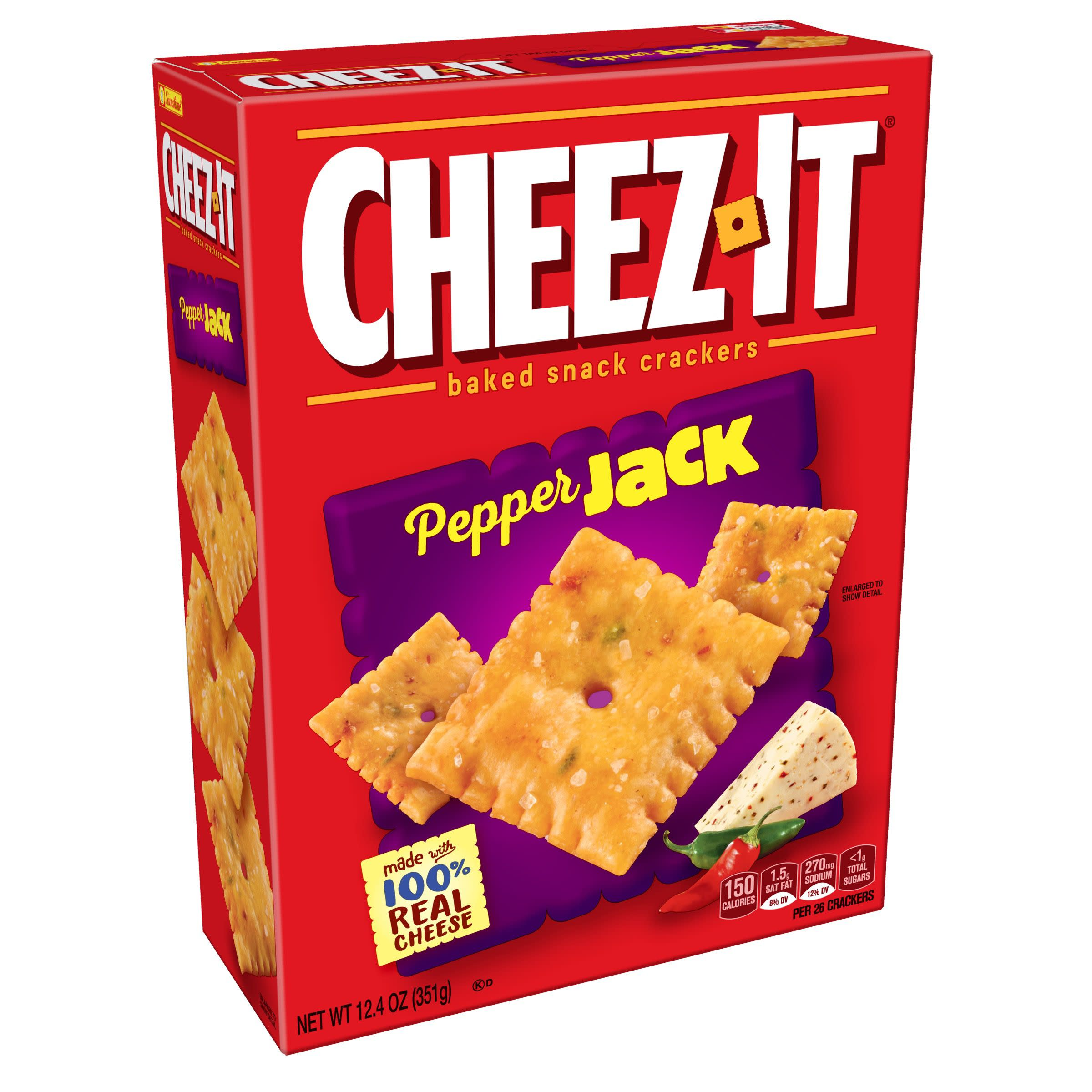 Cheez-It Baked Snack Cheese Crackers Pepper Jack 12.4 oz