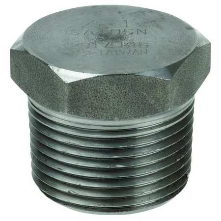 "Value Brand 1/8"" MNPT SS Hex Head Plug, 1RRG4"