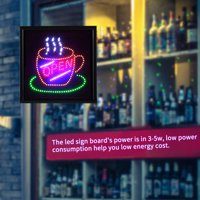 Ejoyous Bright Flashing LED OPEN Sign Light Cafe Shop Bar Store Restaurant Display 48*48cm,LED Sign Display, LED Open Sign