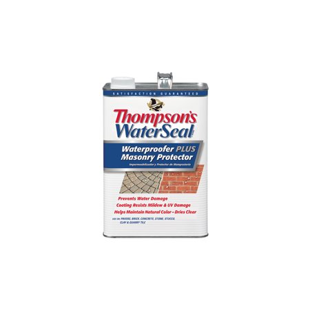 - Thompson's® WaterSeal® Clear Waterproofer Plus Masonry Protector, 1-Gal