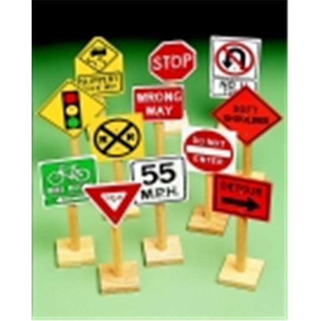 Marvel Education 12 H inch Traffic Sign, Set - 12