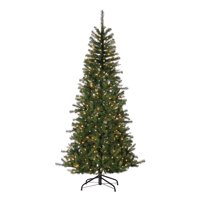 Gerson 7 Ft. Natural Cut Noble Fir with 500 UL Warm White LED Micro Lights