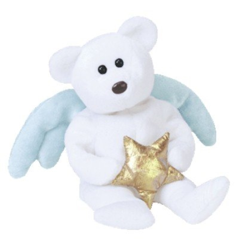 TY Beanie Baby - STAR the Angel Bear (Holding Gold Star)