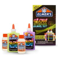 Elmers Glow in the Dark Slime Kit: Supplies Include Glow in the Dark Glue, Elmers Magical Liquid Activator, 4 Count