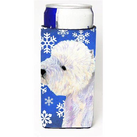 Westie Winter Snowflakes Holiday Michelob Ultra bottle sleeves For Slim Cans - 12 oz. - image 1 de 1