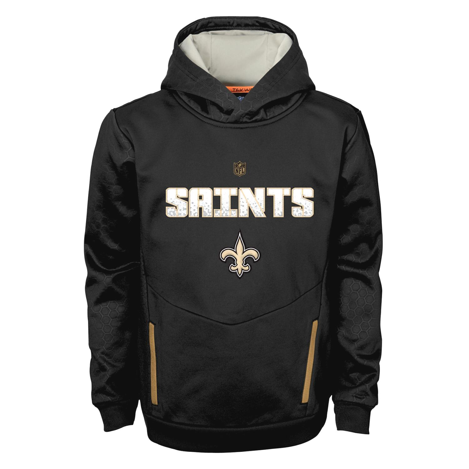 "New Orleans Saints Youth NFL ""Shadow"" Pullover Hooded Sweatshirt"