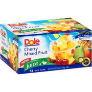 Dole Cherry Mixed Fruit Fruit Cups, 4 oz, 12 ct