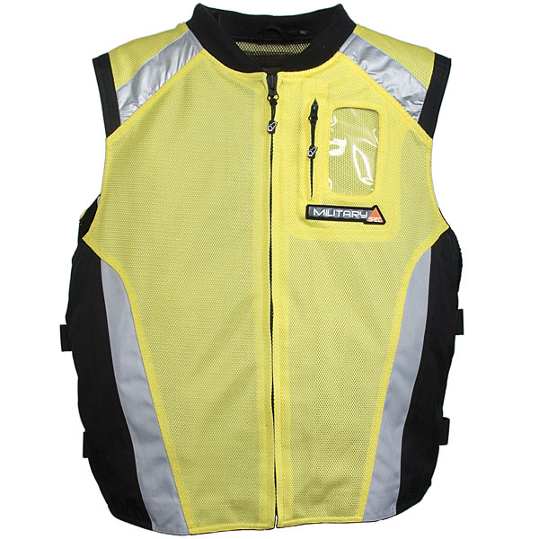 Joe Rocket Military Spec Mesh Vest Yellow/Black/Silver