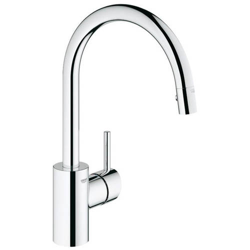 Grohe 32665001 Concetto Single Lever Kitchen Faucet with Dual Spray Pull-Down, Available in Various Colors