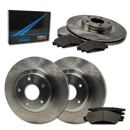 Max Brakes Front /& Rear Premium Brake Kit OE Series Rotors + Ceramic Pads Fits: 2006 06 2007 07 Nissan Titan KT038643