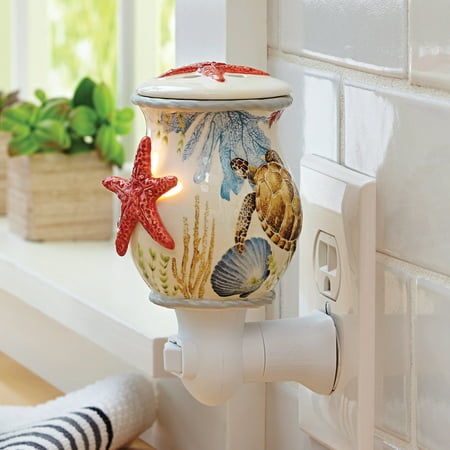 Better Homes & Gardens Ceramic Sea Life Wall Accent Scented Wax