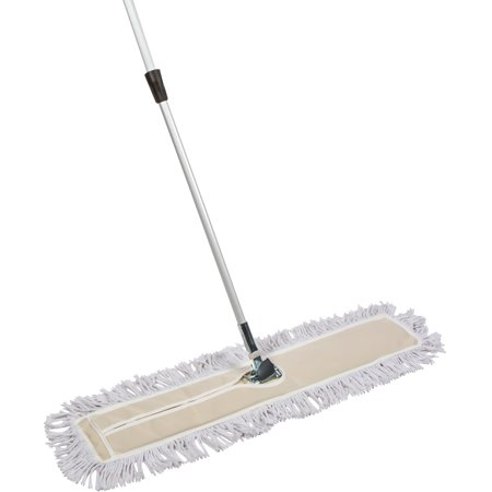Tidy Tools 35 inch Industrial Strength Cotton Dust Mop with Metal Telescopic Handle and Frame. 35'' X 5'' Wide Mop Head with Cut Ends - Hardwood Floor