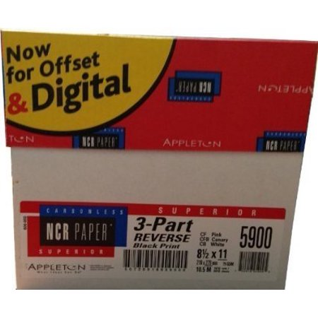 1670 Sets 8.5 x 11 Pre Collated Carbonless Paper 3 Part Reverse (White, Canary, Pink) NCR5900 Carbonless Paper Multi Part Forms