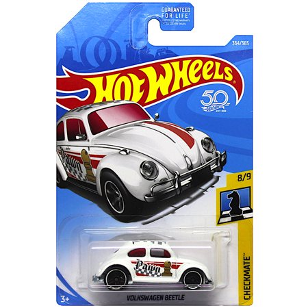 Volkswagen Beetle Pawn Checkmate Hot Wheels 50th Anniversary Diecast
