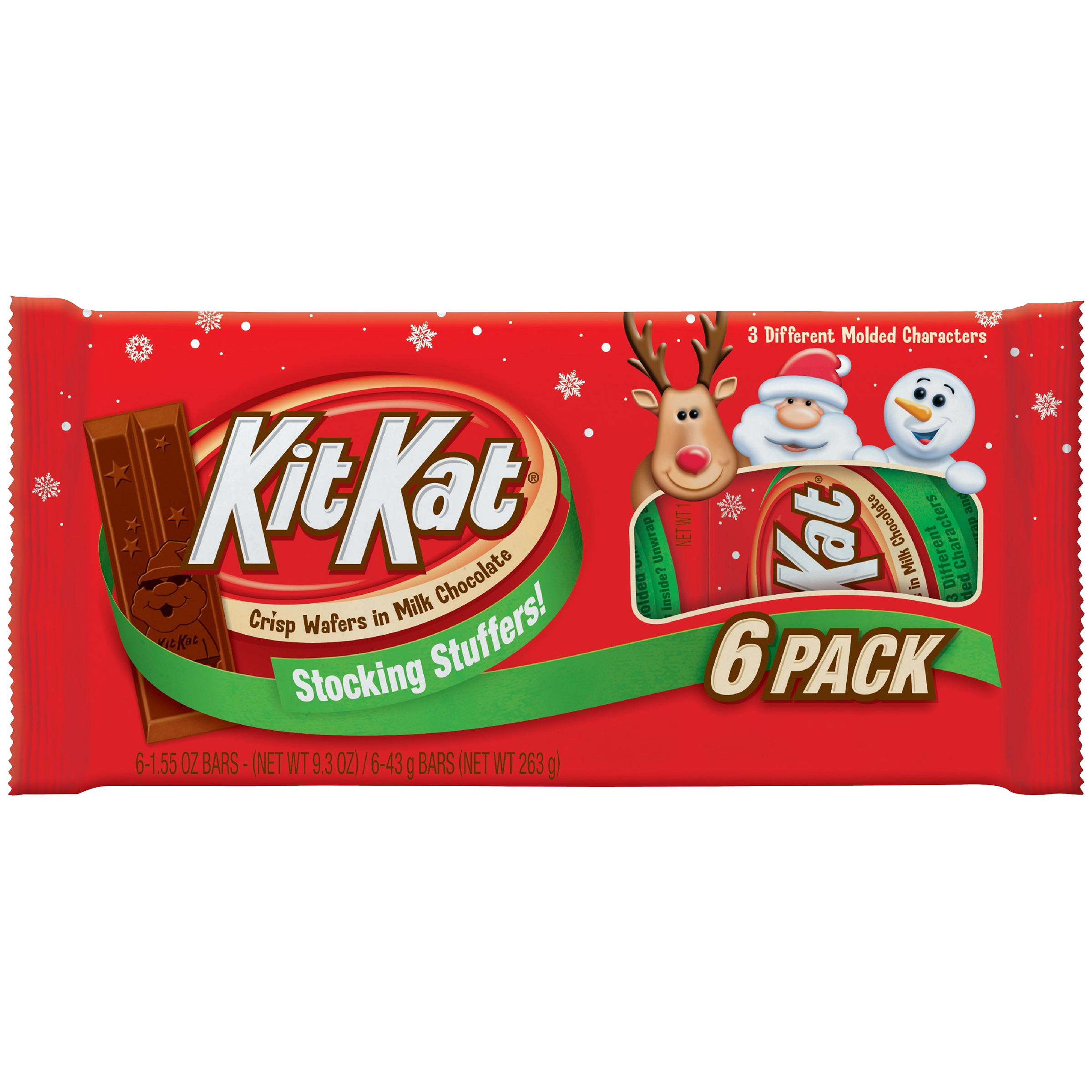 KIT KAT�� Holiday Wafer Bars, 6 count, 9.3 oz