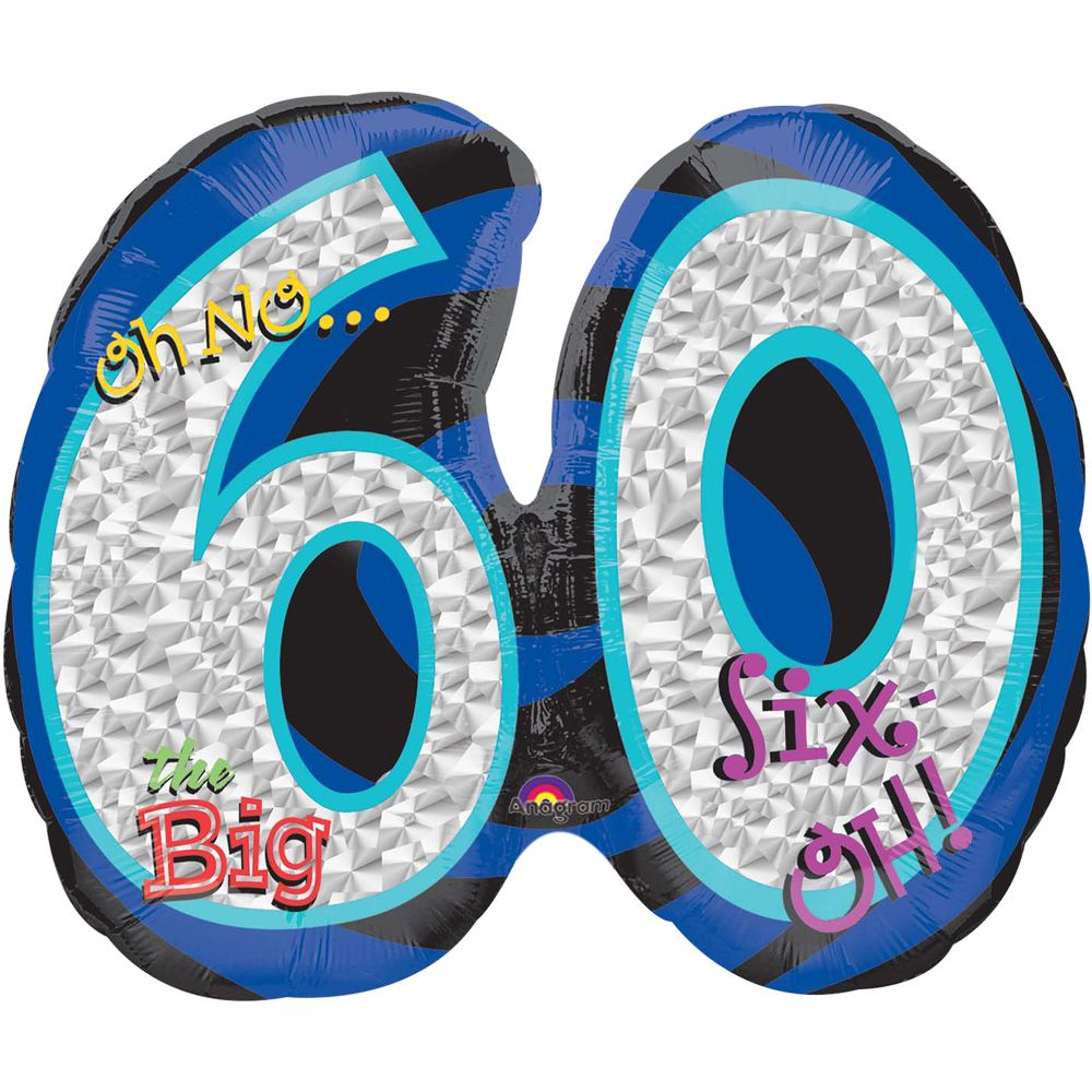 Oh No! 60Th Birthday Shaped Balloon - Party Supplies BB32541