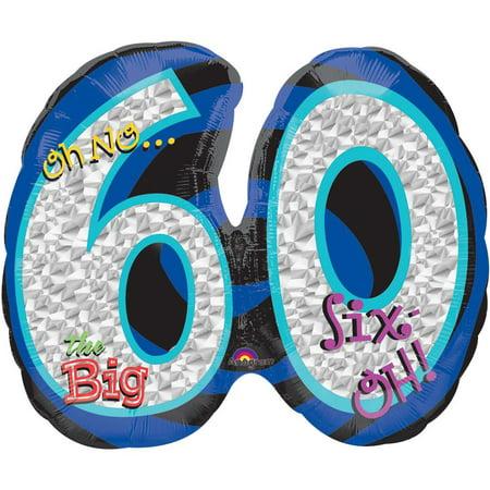 Oh No! 60Th Birthday Shaped Balloon - Party