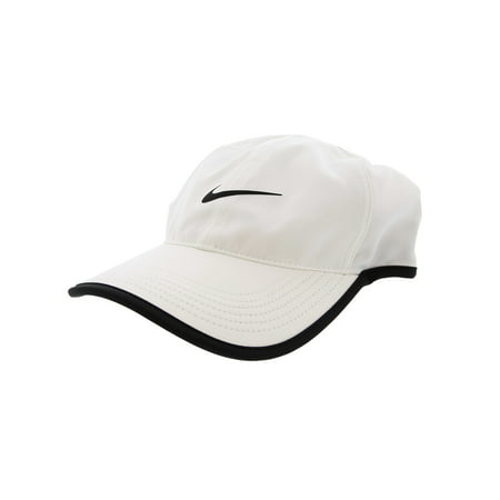 f39ecc91 Nike White / Black Aerobill Featherlight Tennis Cap Hat - One Size ...