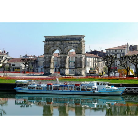 Canvas Print France Tourism River Boat Cruise Stretched Canvas 10 x