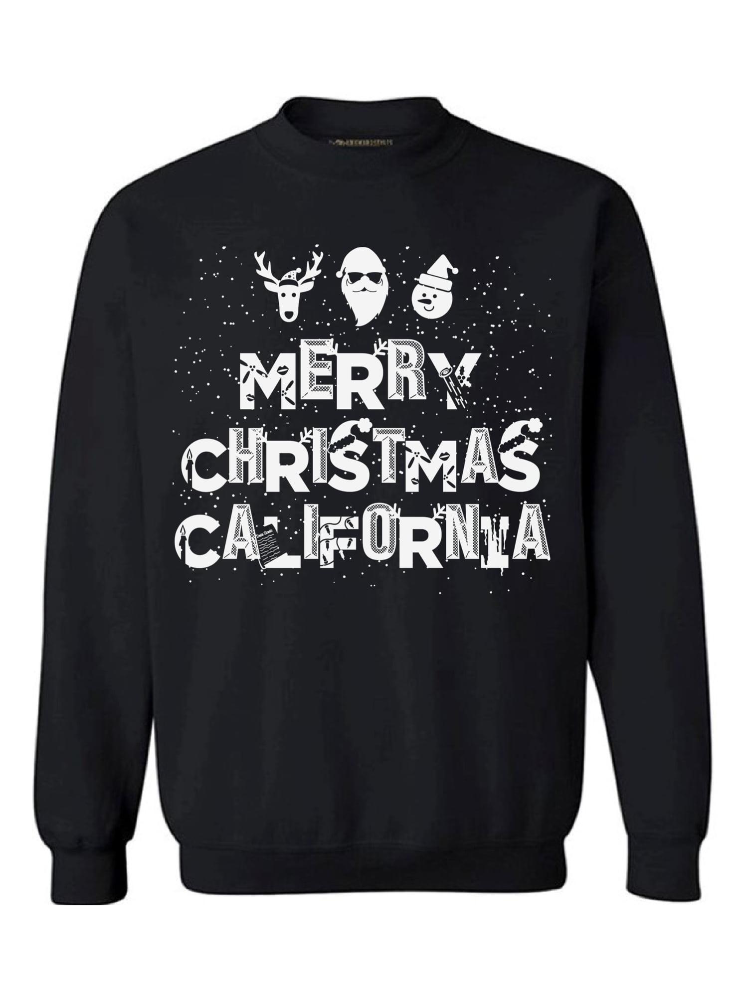 Awkward Styles Merry Christmas California Sweatshirt Ugly Christmas Sweater Cali Love