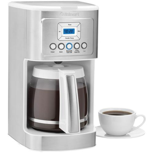 Cuisinart 14-cup Programmable Coffeemaker - Programmable - 14 Cup[s] - Coffee Strength Setting - White, Stainless Steel - Stainless Steel, Glass, Charcoal (dcc-3200w)